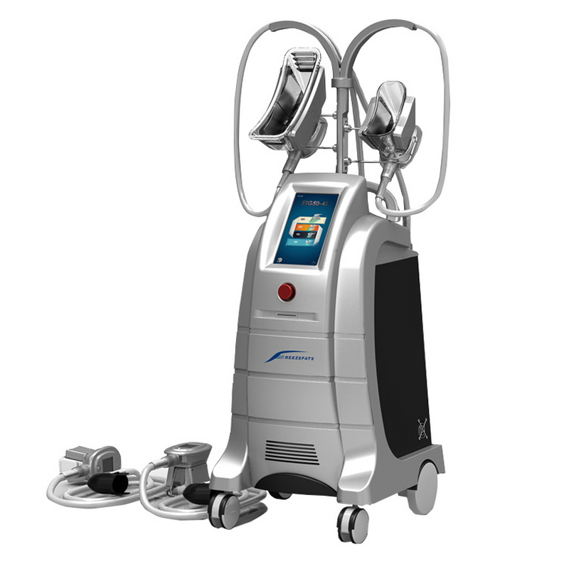 4 cryolipolysis handles etg50-4s professional cryolipolysis,two handles can be working together cryot
